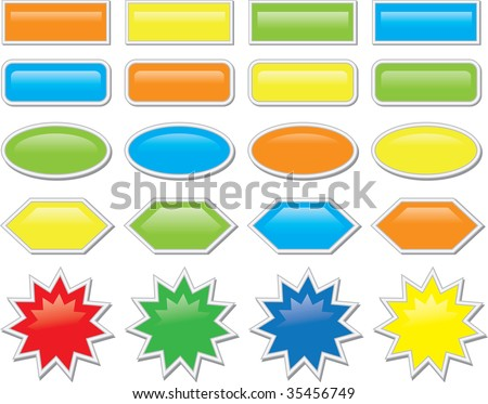 abstract illustration web color icon - stock vector