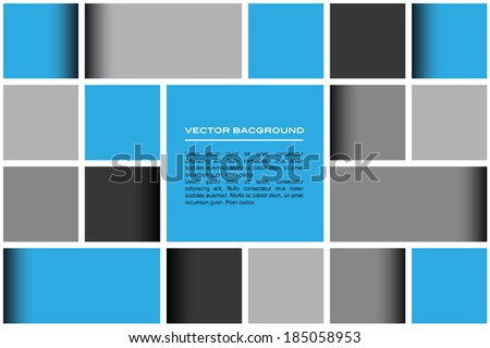 abstract image of cubes vector background in blue toned - stock vector