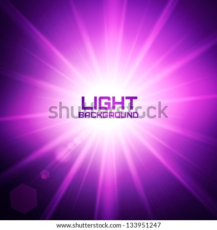 Abstract image of disco lights. Vector illustration. - stock vector