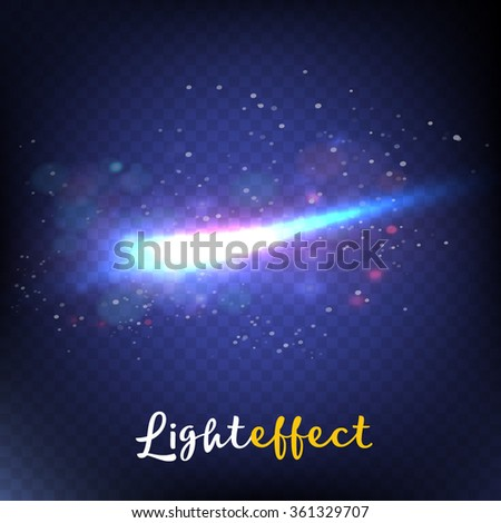Abstract image of lighting flare. - stock vector