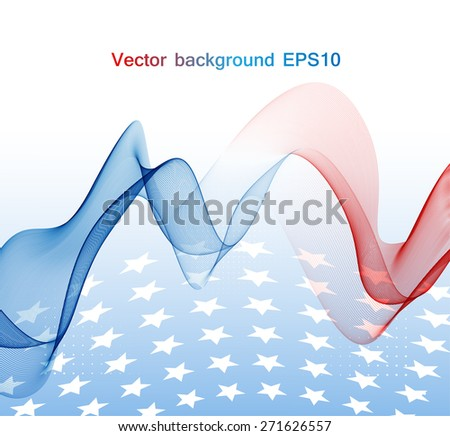 Abstract image of the American flag - stock vector