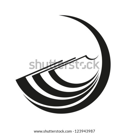Abstract image of the open book. Vector. EPS-10 (non transparent elements,non gradient) - stock vector