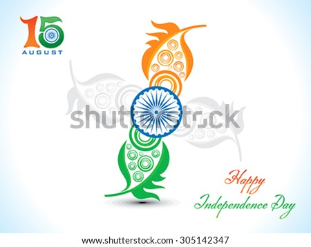 abstract independence day floral background vector illustration - stock vector