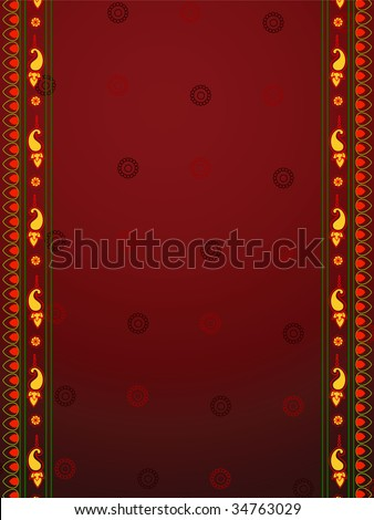 Abstract Indian art inspired henna Background - stock vector