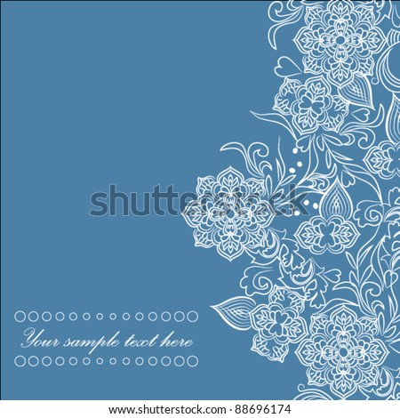 Abstract Indian style background - stock vector