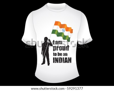 abstract indian t-shirt vector illustration - stock vector