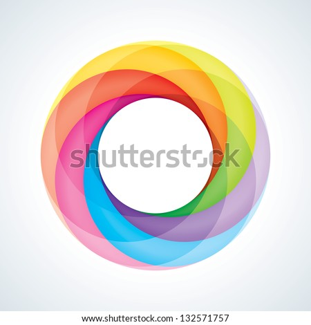 Abstract Infinite Loop Logo Template. Corporate Icon. 6 Pieces Shape. EPS10 - stock vector