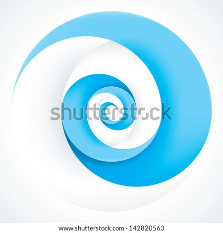 Abstract Infinite Loop Swirl Template. 2 Pieces Shape. EPS10 - stock vector