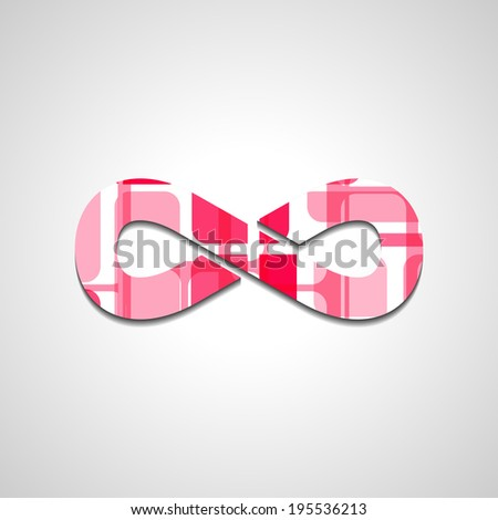 Abstract Infinity symbol, style illustration - stock vector