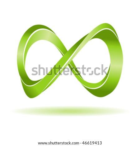 Abstract infinity symbol. Vector illustration. - stock vector