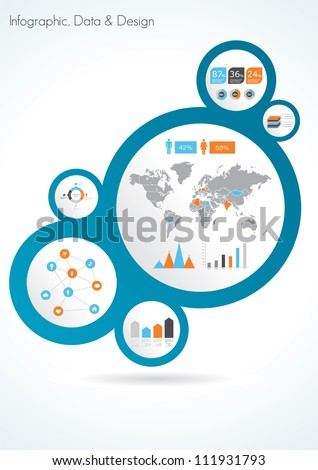 Abstract infographic design template. Vector illustration - stock vector