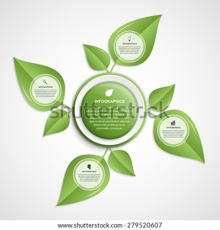 Abstract infographic. Nature concept. Vector illustration.   - stock vector