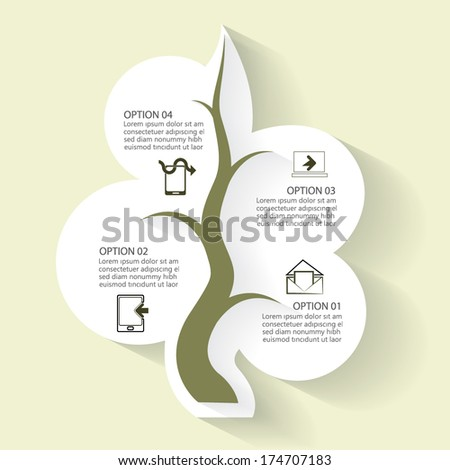 Abstract infographic template, minimalism style, vector illustration - stock vector