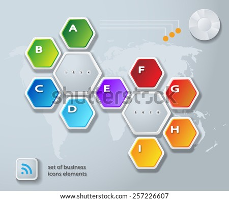 Abstract Infographic. Vector illustration. Diagram, Web Design. - stock vector