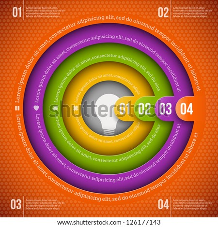Abstract infographics design template with numbered elements - stock vector