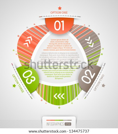 Abstract infographics design with numbered elements - vector illustration - stock vector