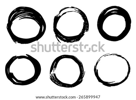 Abstract ink circles texture vector on white background  - stock vector