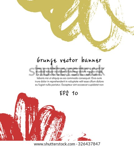 Abstract ink drawn banner. Decorative composition for posters, cards, presentation - stock vector