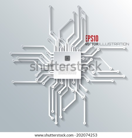 Abstract integrated circuit. Business background. - stock vector