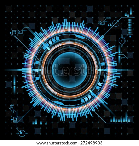 Abstract interface - stock vector