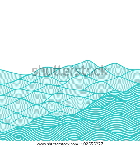 Abstract invitation card. Template frame design for card. - stock vector