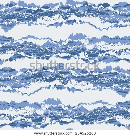 Abstract irregular natural ragged edges striped textured background. Seamless pattern. Vector. - stock vector