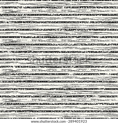 Abstract  irregular noisy striped textured background. Seamless pattern. - stock vector