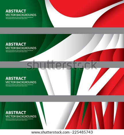 Abstract Italian Flag, Italy National Colors (Vector Art) - stock vector