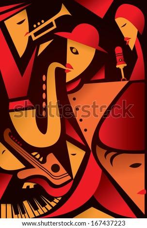 Abstract Jazz Art - stock vector