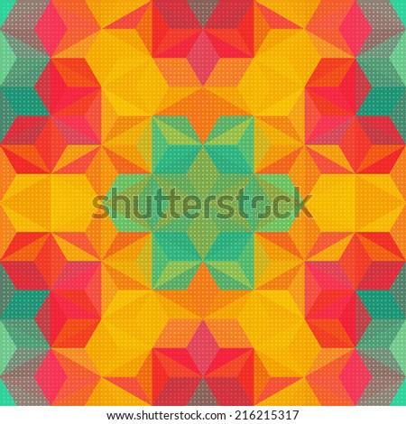 Abstract Kaleidoscope Background - stock vector
