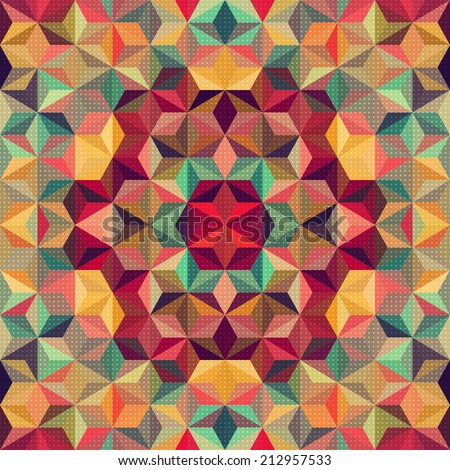 Abstract Kaleidoscope Pattern - stock vector