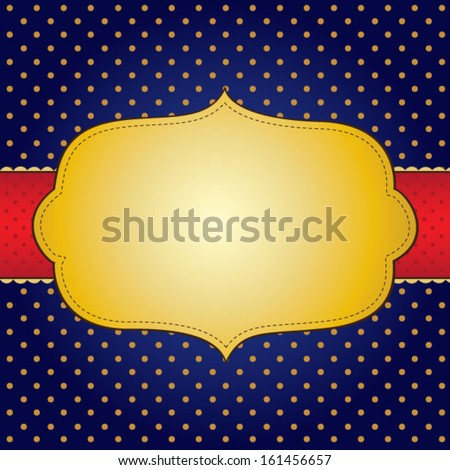 Abstract label over blue - stock vector