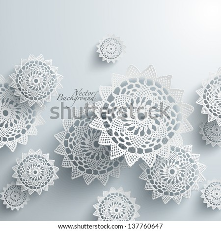Abstract Lace Graphics - stock vector