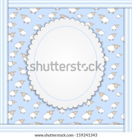 Abstract lamb background vector illustration - stock vector