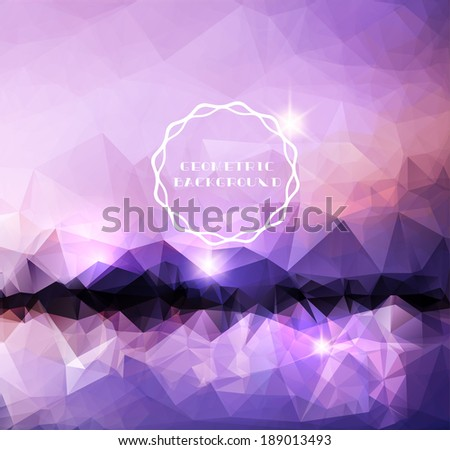Abstract landscape Polygonal background - stock vector