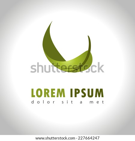 Abstract leaf icon - stock vector