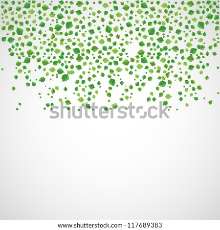 Abstract leaves background.vector - stock vector