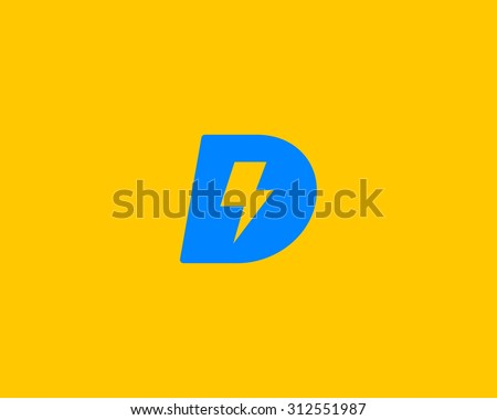 Abstract letter D logo. Dynamic unusual font. Universal fast speed fire moving quick energy icon. Flash vector logotype. Rapid thunderbolt  superhero t shirt print, apparel fashion tee symbol.  - stock vector