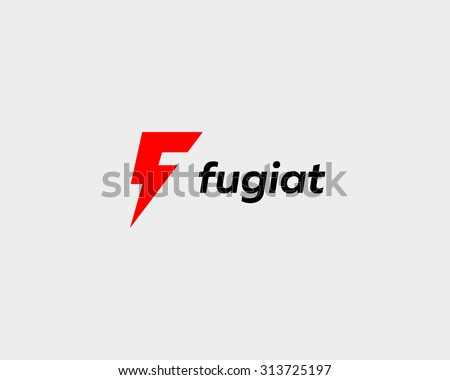 Abstract letter F logo. Dynamic unusual font. Universal fast speed moving quick energy icon. Flash vector logotype. - stock vector