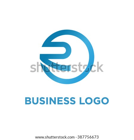 Abstract letter R logo template. - stock vector