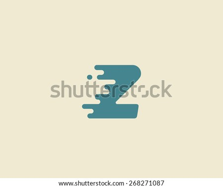 Abstract letter Z logo design template.  Dynamic vector unusual font. Universal fast speed fire moving water quick energy drop icon. - stock vector