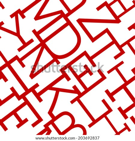 Abstract letters seamless pattern. - stock vector