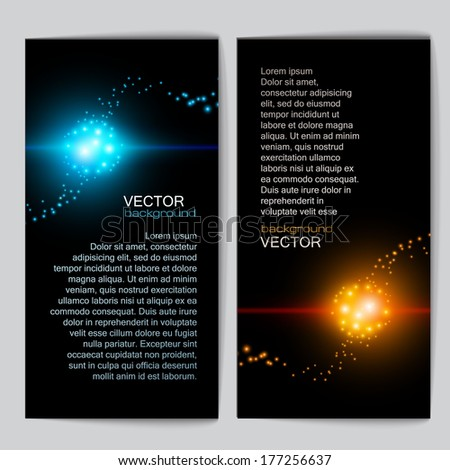 Abstract light background banner for your business - stock vector