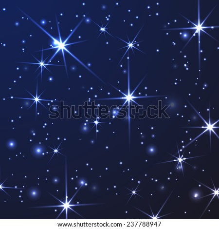 abstract light background with stars - stock vector