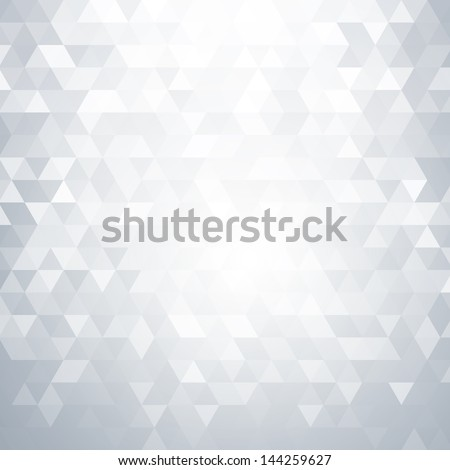 Abstract light background with triangle shapes - stock vector