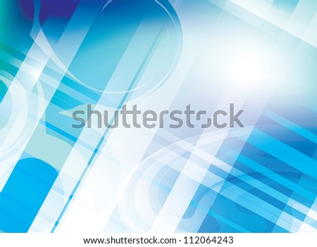 abstract light blue background with parallel lines - vector - stock vector