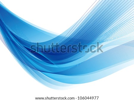 Abstract light blue vector background - stock vector