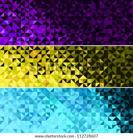 Abstract Light Brilliant Fun Holiday Banner Pattern. Bright Sparkle Blue Pink Yellow Vector Background - stock vector