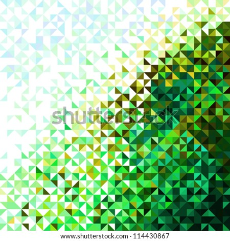 Abstract Light Brilliant Nature Pattern. Bright Sparkle Sky and Foliage Vector Background - stock vector
