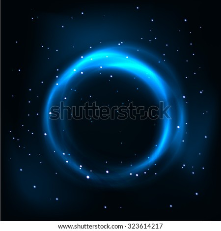 Abstract light circles background. Vector illustration. - stock vector